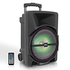 800 WATT POWER: This portable high powered full range audio loudspeaker PA system has a maximum power output of 800 watt peak power so you can play your favorite tracks as loud as you want and with style 12 inch SUBWOOFER 1 inch TWEETER: This compact...
