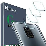 Ferilinso Kompatibel mit Xiaomi Redmi Note 9S, Redmi Note 9, Redmi Note 9 Pro Kameraobjektivschutz [Hergestellt aus hartem Glas], [4 Stück] Glasgehäuse [Kratzfest] [High Definition] (Transparent)