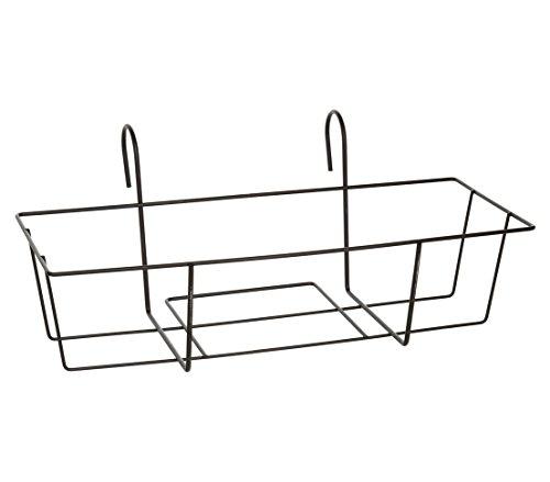 Dehner Blumenkastenhalter Trixie, ca. 55 x 31 x 24 cm, Metall, schwarz