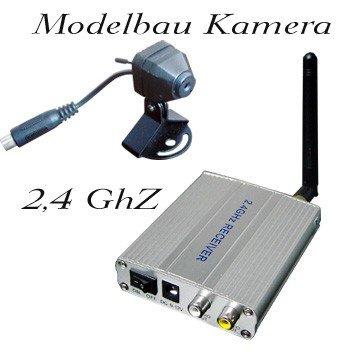 KesCom® 811D Mini Farb Funk Kamera inklusive Ton und Empfänger