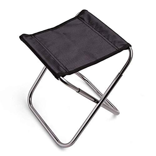 DJY-JY - Silla plegable para acampada al aire libre, aleación de aluminio, banco de barbacoa portátil (tamaño: 24 x 22,5 x 26 cm)