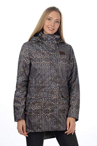 Stayer Thermo-Jacke Thermomantel Damen Anorak Lang Winter-Mantel Wasserdicht atmungsaktiv Grau Anthrazit (L)