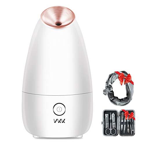 Vaporizzatore Viso VKK, Dispositivo di Bellezza che Offre Trattamenti SPA Sauna al Viso (in Omaggio un Kit Manicure e un Cerchietto). È Adatto per Uomini e Donne, una Buona Idea Regalo per Natale.