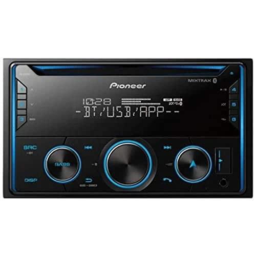 PIONEER FH-S520BT Pioneer FHS520BT Double Din Bluetooth in-Dash CD/Am/FM Car Stereo Receiver W/USB, Smart Sync, Amazon Alexa Compatible (Renewed)