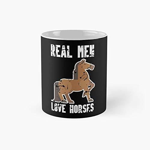 Taza clásica con diseño de caballo y amor, ideal como regalo para café, 325 ml