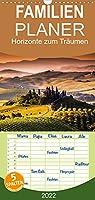 Horizonte zum Traeumen - Familienplaner hoch (Wandkalender 2022 , 21 cm x 45 cm, hoch): Magische Farbspiele an Horizonten zum Traeumen (Monatskalender, 14 Seiten )