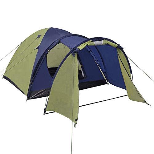 AYNEFY - Tienda de campaña portátil para 4 personas, para acampada, acampada, acampada, camping para 4 personas al aire libre, senderismo, impermeable, color verde