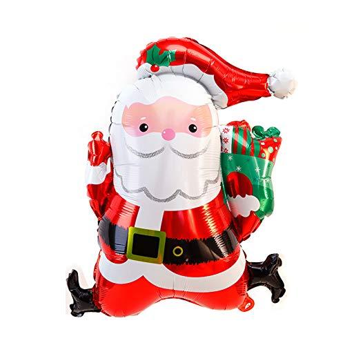 Siumir Globo de Navidad Globo de Santa Globo de Papel de Aluminio para Decoración de Navidad