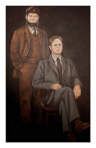 N/ Dwight Schrute Mose Schrute Portrait The Office Poster Print Gift Poster Wall Art Print Painting Home Decor Gifts for Lovers Poster