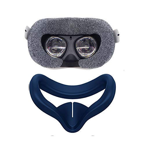 Pace VR Cover for Oculus Quest 2 (Sweat Absorbent Cover + Silicone) 2 Pack