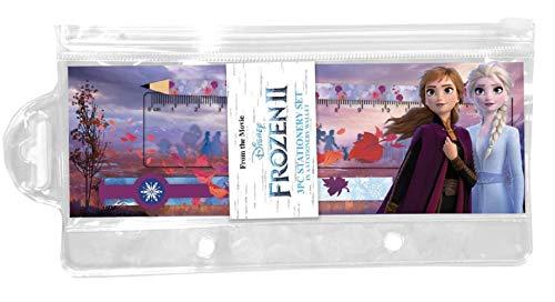 Disney Frozen - Estuche con 2 lápices y reglas