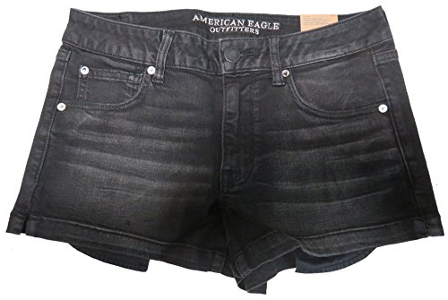 American Eagle Outfitters Womens Shortie Shorts Black, 12