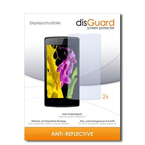disGuard® Bildschirmschutzfolie [Anti-Reflex] kompatibel mit Oppo Neo 5 [2 Stück] Entspiegelnd, Matt, Antireflektierend, Extrem Kratzfest, Anti-Fingerabdruck - Panzerglas Folie, Schutzfolie