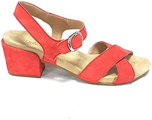 BENVADO Damen Sandalen Rot Fuoco Fuoco Fuoco  bester Ruf