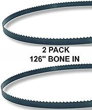 126x5/8x3TPI - 2 Pack Bone In Bandsaw Blades - Meat Cutting Fits Hobart 6614