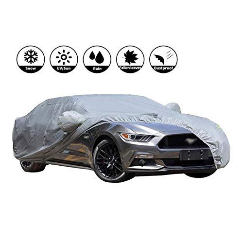 LXYPLM Autoabdeckung Vollgarage Autoabdeckungen Volle Auto-Abdeckungen wasserdichte Sport-Car-Cover Schnee- Fahrzeug Cover Outdoor Allwetterschutz Oxford Cloth (Size : 2018 Ford Mustang)