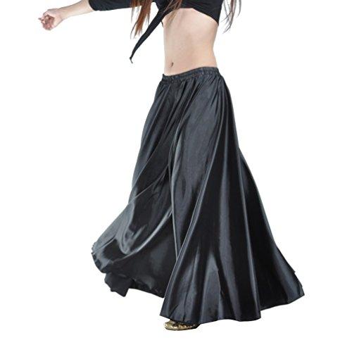 YouPue Damen Tanzkostüm Bauchtanz-Kostüm sexy High-End-Dual Rock Bauchtanz Leistungen große Rock Komfort (nicht enthalten Gürtel) Gürtel Kostüme Bauchtanz Taille Kette Schwarz
