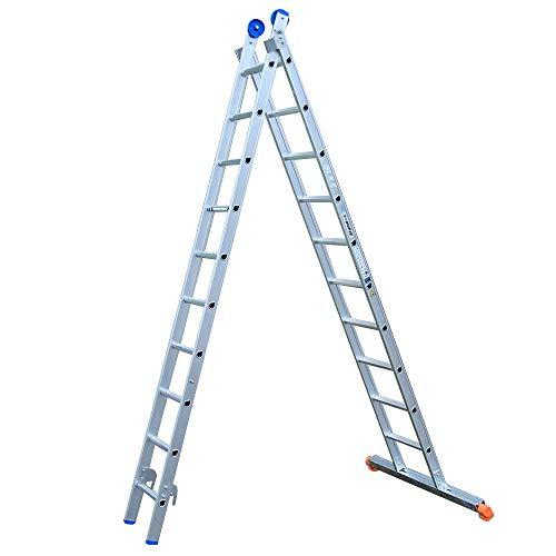 Alumexx XD Ladder (2-Delig) - Schuif - Ladder - Reform - Ladder - 2x14 Sporen - 6.75 m Lang (Uitgeschoven) - Unieke D-Sporten