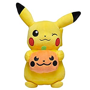 Pokemon Pikachu Halloween Seasonal Plush, 8 Plush Toy, Includes Plush Pumpkin Accessory- Super Soft, Authentic Details… - 4178zYciMcL - Pokemon Pikachu Halloween Seasonal Plush, 8 Plush Toy, Includes Plush Pumpkin Accessory- Super Soft, Authentic Details…