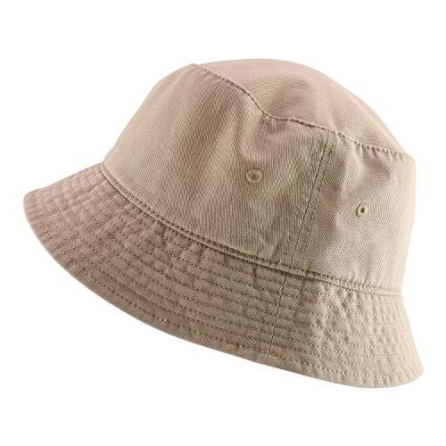 Armycrew Oversized Big Size Men's Cotton Bucket Hat - Khaki - XL-2XL