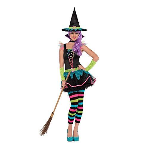 Christy's Teenager-kostuum, neonkleuren, maat S