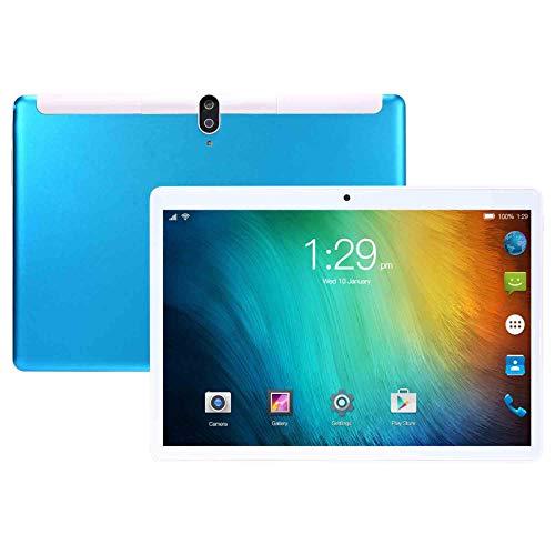 KHDJ Tablet 10 Pulgadas Pantalla HD De 10 Pulgadas 1GB RAM 16GB ROM Procesador Octa-Core, Soporte Tarjeta SIM 4000Mah Cuerpo De Metal, Bluetooth, GPS, WiFi Tableta Táctil,Azul
