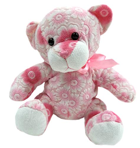 Goffa Floral Teddy Bear Stuffed Animal Plush, 10' (Pink)