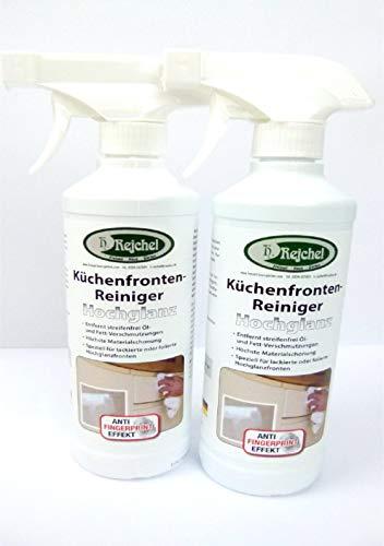 Rejchel/Hotrega H110234999-1 Küchenfronten-Reiniger Hochglanz - Set. Materialschonender Intensivreiniger für schmutzempfindliche glänzende Oberflächen