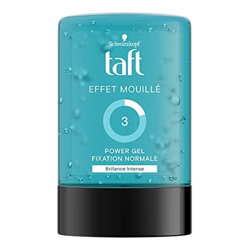 Schwarzkopf - Taft - Gel Coiffant - Power Gel Effet Mouillé - Fixation Forte - Longue Durée - Tenue 24h - Coiffant Cheveux - Flacon 300 ml