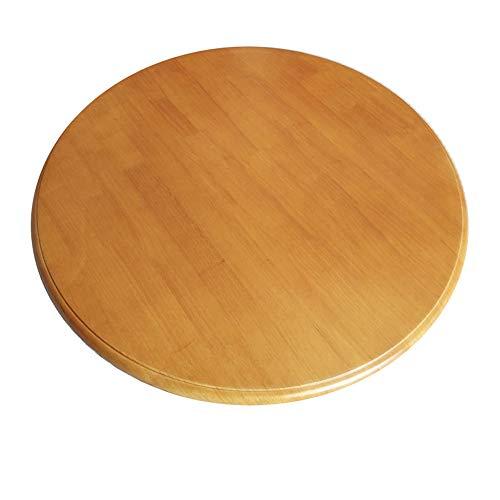 Piatto Girevole Tondo in Legno (70-90 cm) - Grande Vassoio Girevole Lazy Susan,Vassoio da Servizio da Tavola,8 Colori Disponibili