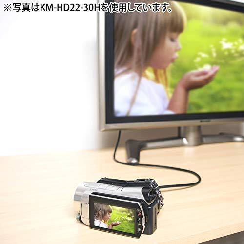 SANWASUPPLYイーサネット対応ハイスピードHDMIミニケーブル0.75mKM-HD22-07H