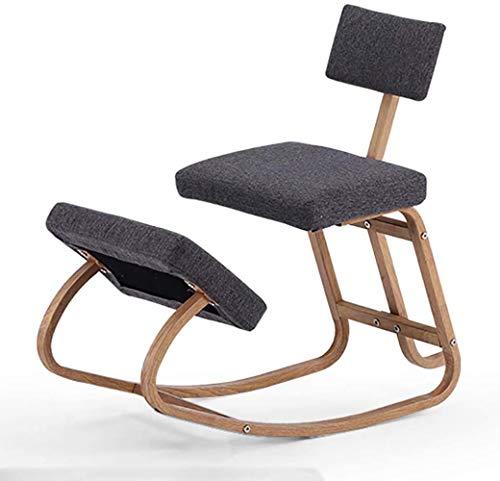 chair Ergonomic Kneeling, Office Ergonomic Balance Footstool - Swinging Stool with Back Support for Good Posture for Children