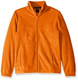 AquaGuard Boys' Big Full-Zip Fleece Jacket, Safety Orange, Large