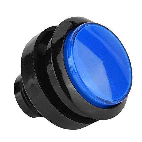 DAUERHAFT Bright Visual Experience Arcade Switch de bajo Consumo Iluminado Arcade Compact para Amantes del Bricolaje(Blue)