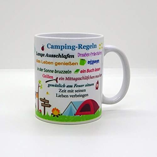 Kaffeebecher ~ Tasse - Camping-Regeln (Bus)~ Camper - Camping - Wohnwagen - Zelt ~ Weihnachten Geschenk