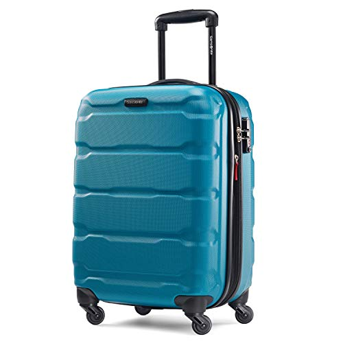 Samsonite Omni PC Hardside Expandable Luggage with Spinner Wheels, Caribbean Blue, Carry-On 20-Inch