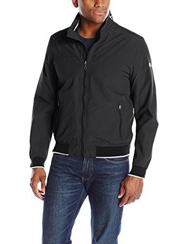 Tommy Hilfiger Men's Yachting Bomber Jacket, Black, Medium