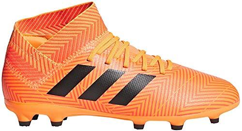 Adidas Kinder nemeziz 18.3Ground Stollen Fußball Stiefel Fußballschuh (Hartböden, Kind, Unisex, Orange, bedruckt) 38 2/3 EU (UK 5.5)
