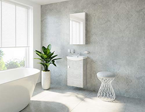 Planetmeubel badmeubelset wastafel + wastafel + spiegelkast gasten badkamer toilet beton