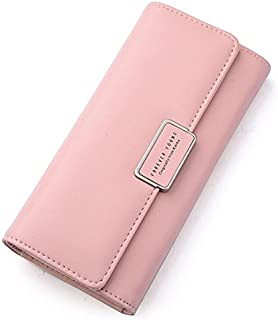 Womens RFID Blocking Bifold Multi Card Case PU Leather Wallet