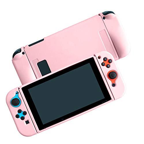 Coholl Funda Protectora de Silicona para Nintendo Switch, Funda de Agarre con diseño de absorción de Golpes y antiarañazos, Funda Protectora eparable,Rosado
