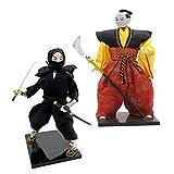 DYNWAVE 2pcs 12inch Vintage Japanese Samurai...