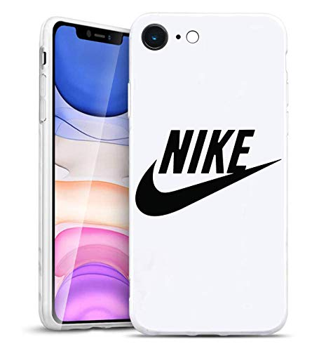 Just Do It Logo iPhone 6/6S Funda, Carcasa Silicona Protector Anti-Choque Ultra-Delgado Anti-arañazos Case Caso para Teléfono iPhone 6/6S, Blanco