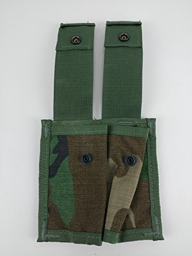 Specialty Defense Systems New MOLLE Woodland Camo 40MM Pyrotechnic Pocket Double Pouch