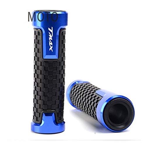 Puños De Goma Aleación CNC De Moto Para YAMAHA TMAX530 / 500 SX DX Puños De Manillar De Motocicleta De 7/8 '22mm Acelerador Giratorio Empuñaduras Extremo Barra Accesorios De Boutique ( Color : Azul )