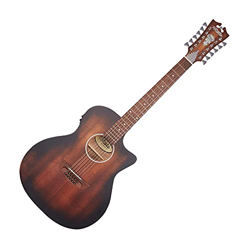 D'Angelico Premier Fulton LS Acoustic Electric 12-String Guitar, Aged Satin Mahogany