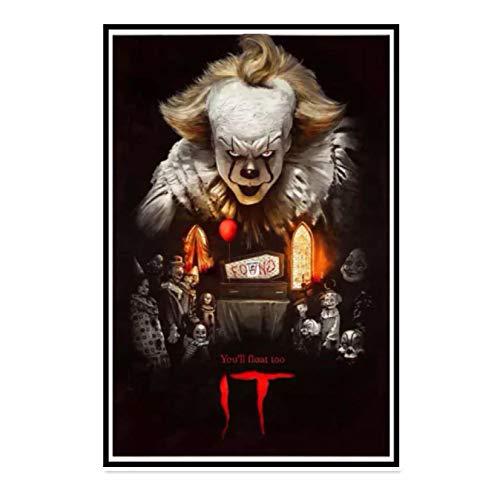 IT Pennywise Stephen King Thriller película de terror sala de estar carteles artísticos de pared impresiones en lienzo decoración del hogar-50x70 CM sin marco