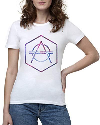 Galaxy Don Diablo Cool Damen Weis Weiß T-Shirt | Women's White T-Shirt Tshirt T Shirt