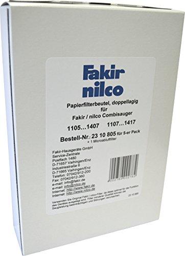 Fakir Combisauger 1107 Papierfilter Pack A 5