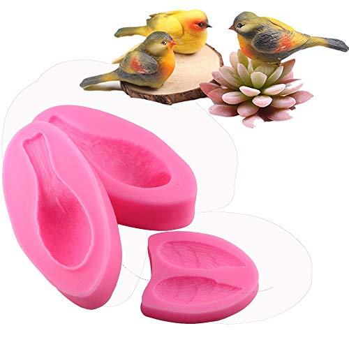Beauty's Castle - Moule 3D Oiseau de forêt - En silicone - Création artisanale de savon - Moule à gâteau pour réaliser fondant au chocolat - Outil de cuisson
